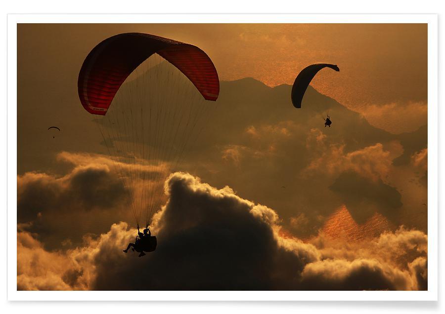 Paragliding - Yavuz Sariyildiz Poster