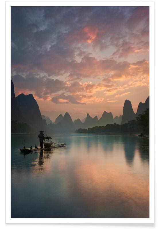 Li River Sunrise - Yan Zhang Poster