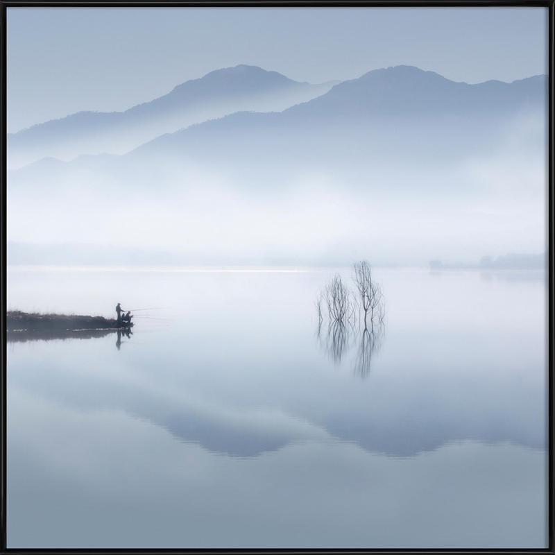 Blue silence - Jose Beut Framed Poster