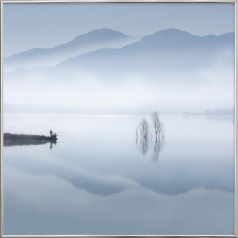Blue silence - Jose Beut -Poster im Alurahmen