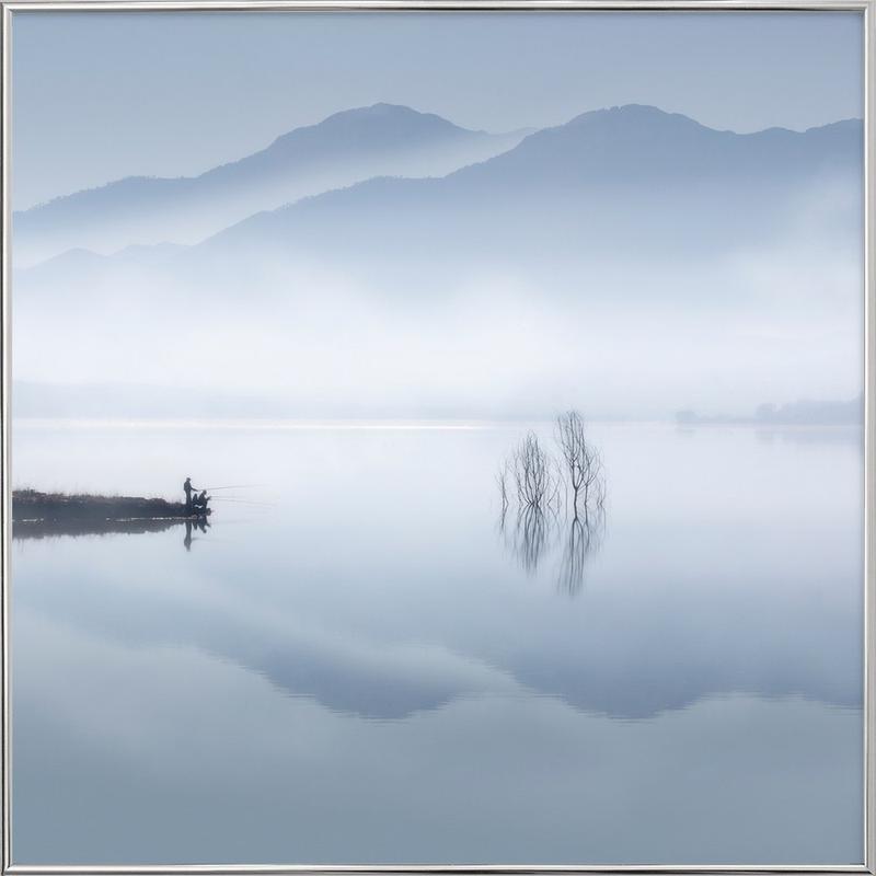 Blue silence - Jose Beut Poster in Aluminium Frame