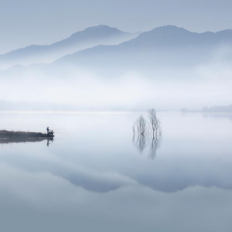 Blue silence - Jose Beut Aluminium Print