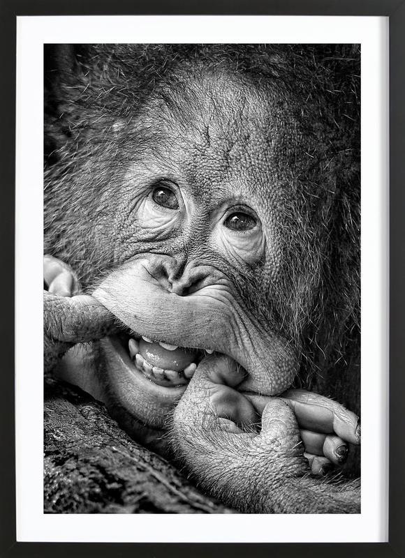 Big Smile.....Please - Angela Muliani Hartojo -Bild mit Holzrahmen