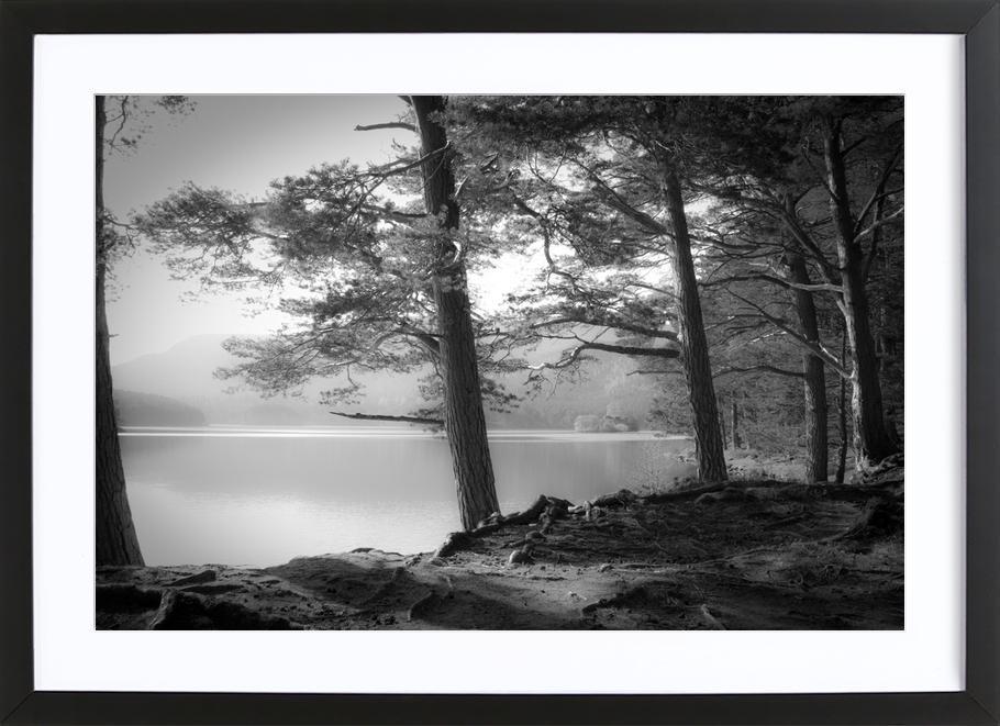 Loch An Eilein - Dorit Fuhg -Bild mit Holzrahmen