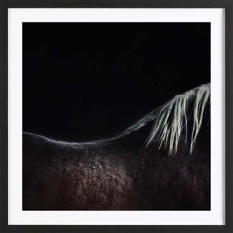 The Naked Horse - Piet Flour Framed Print