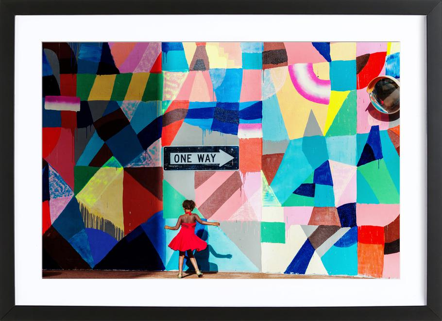 One Way - Gloria Salgado Gispert Framed Print