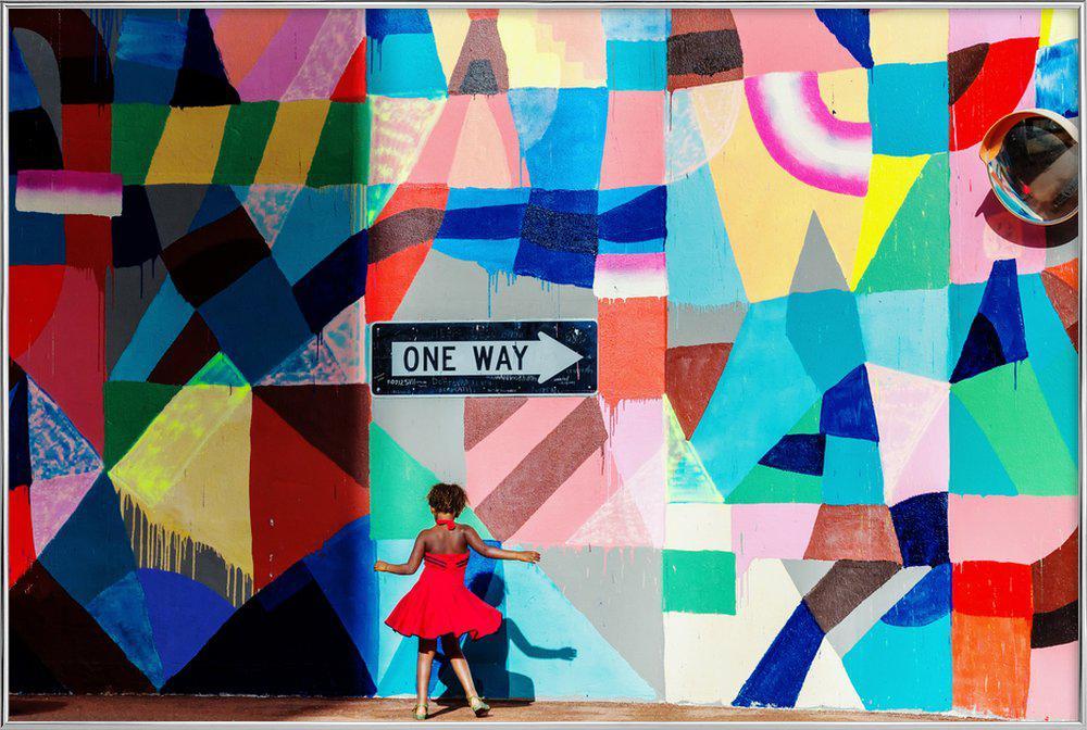 One Way - Gloria Salgado Gispert Poster in Aluminium Frame