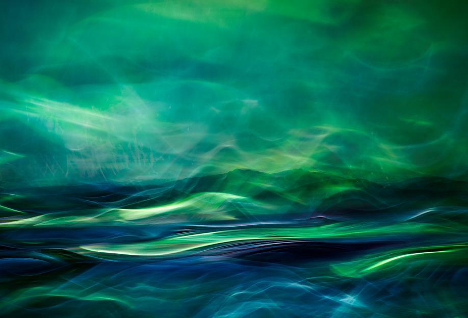 Northern Lights tableau en verre
