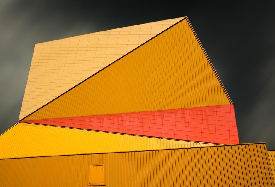 The Yellow Roof tableau en verre