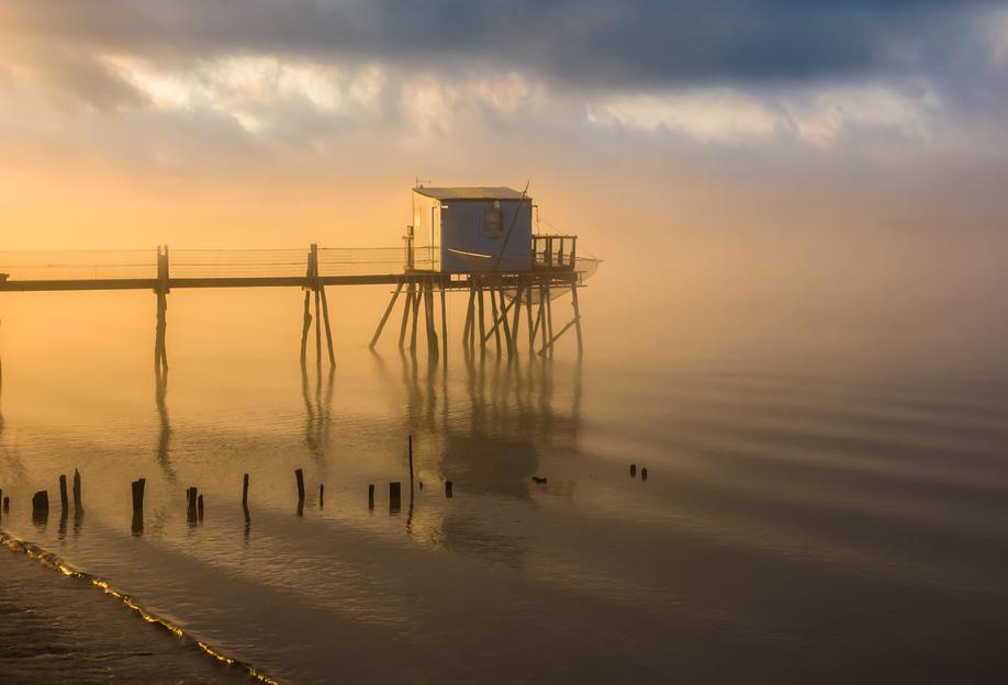 Fishing Cabin -Acrylglasbild