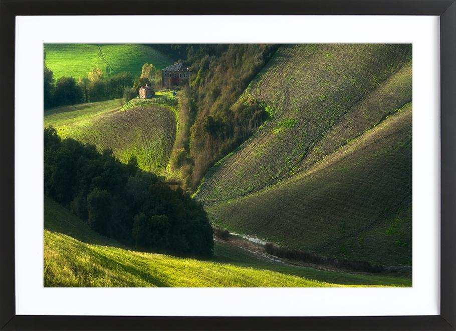 Crete Senses/Tuscany -Bild mit Holzrahmen