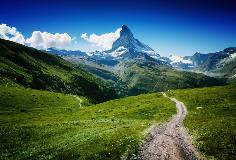 Matterhorn II -Acrylglasbild
