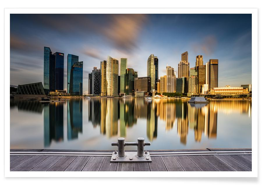 Golden Morning in Singapore -Poster