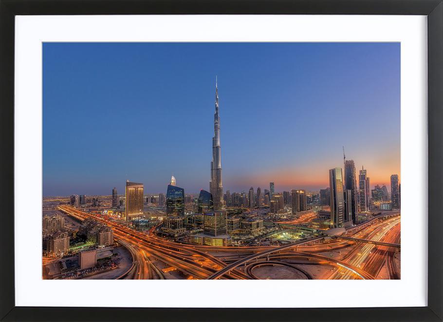 The Amazing Burj Khalifah ingelijste print