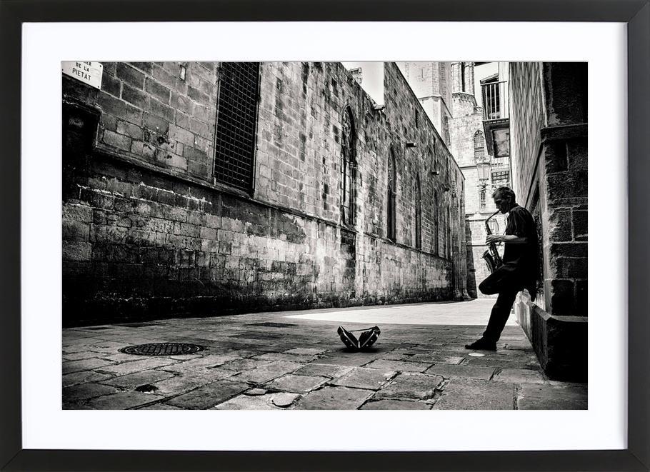 Silent Street ingelijste print