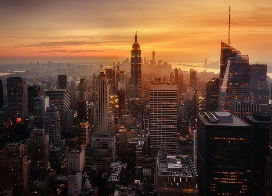 Manhattan's Light canvas doek