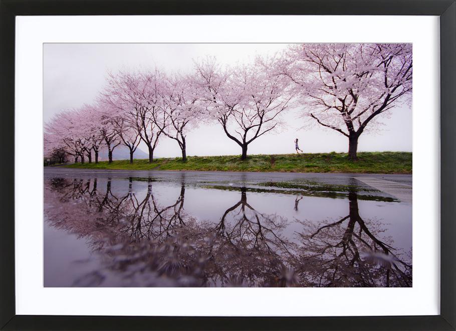 Rain of Spring - Kouji Tomihisa Framed Print