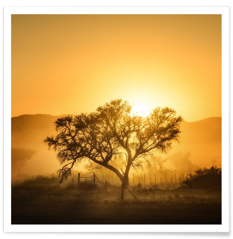Golden Sunrise - Piet Flour poster