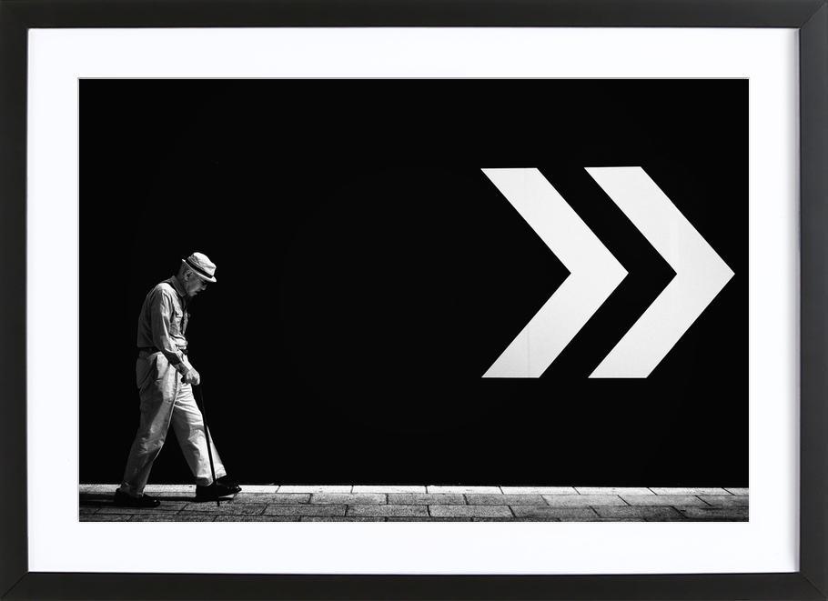 Untitled - Tatsuo Suzuki affiche sous cadre en bois