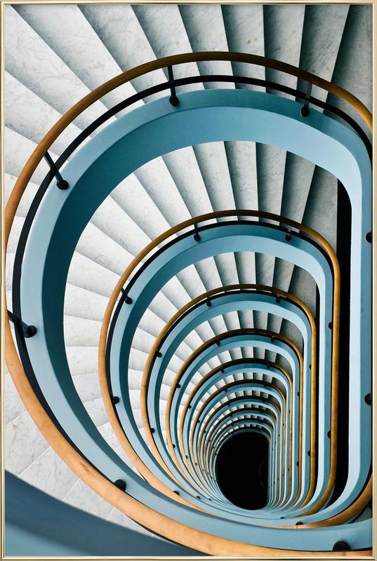 Black Hole - Jef Van den affiche sous cadre en aluminium