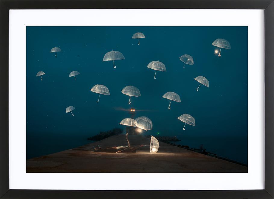 DREAMS - Alexandar Lazarov affiche sous cadre en bois