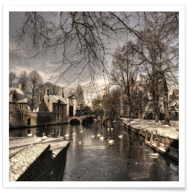 Bruges in Christmas Dress - Yvette Depaepe affiche