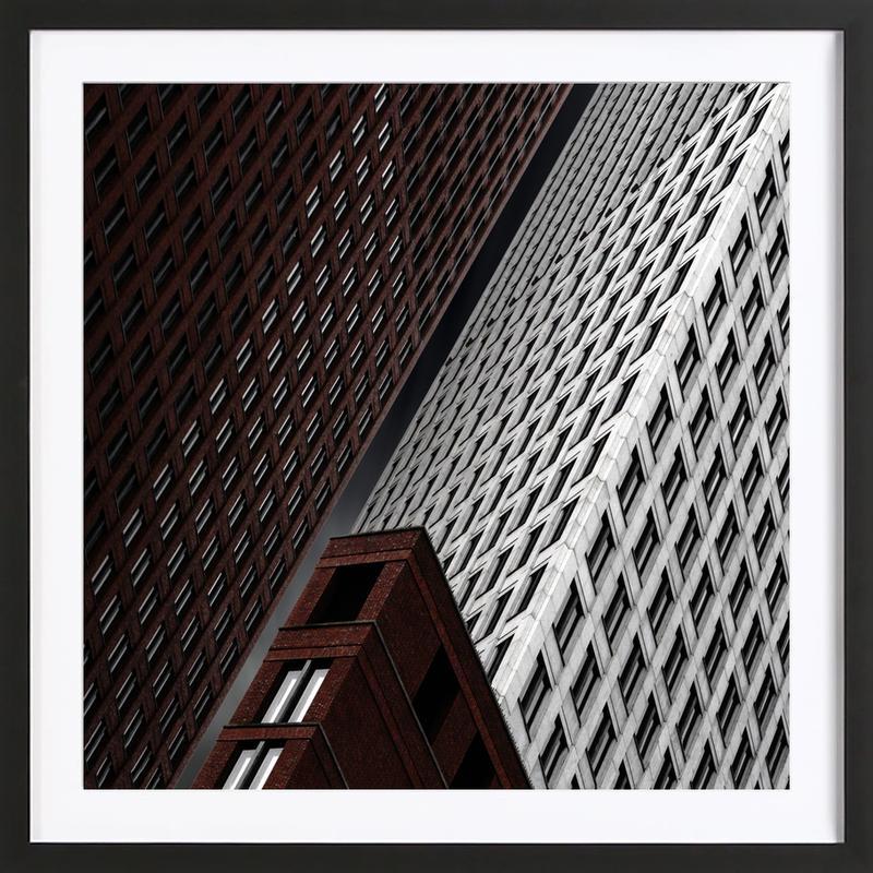 In Tribulation - Gilbert Claes affiche sous cadre en bois