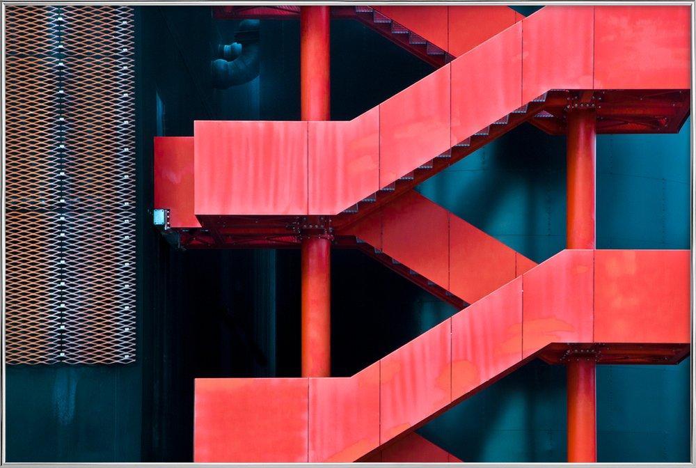 Red Route - Linda Wride affiche sous cadre en aluminium
