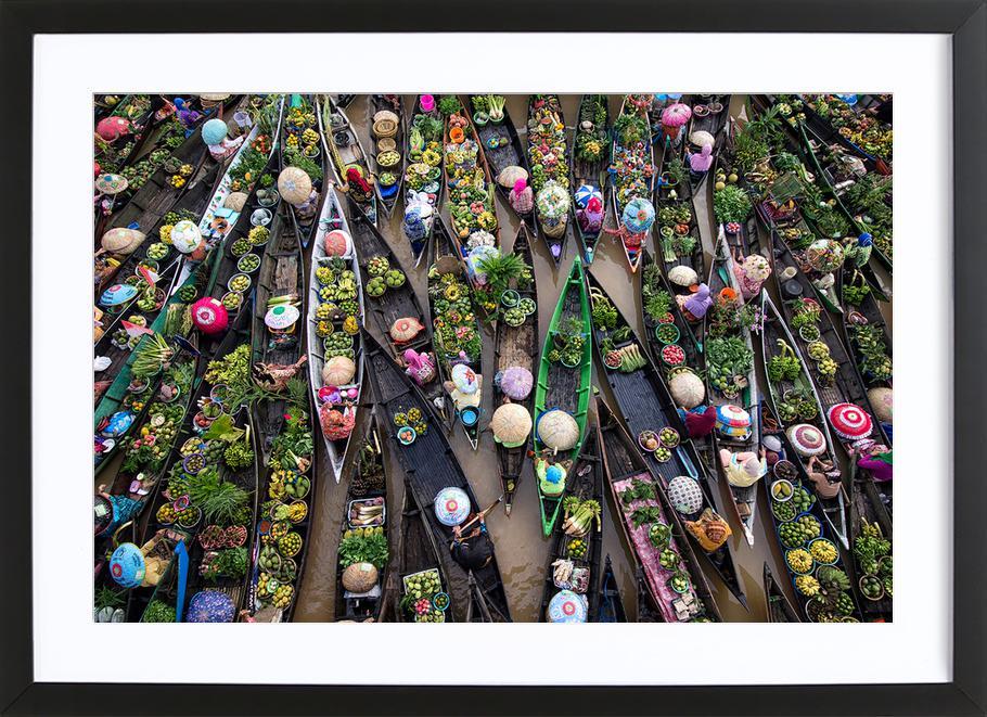 Pasar Terapung - Insan Kamil Framed Print