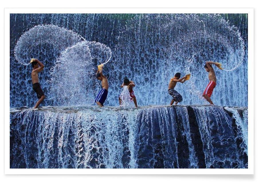 Playing with splash - Angela Muliani Hartojo Poster