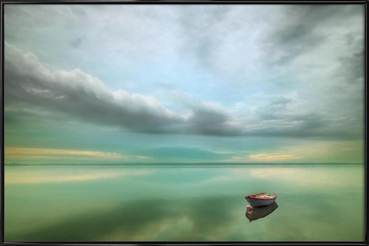 Boat - Krzysztof Browko -Bild mit Kunststoffrahmen