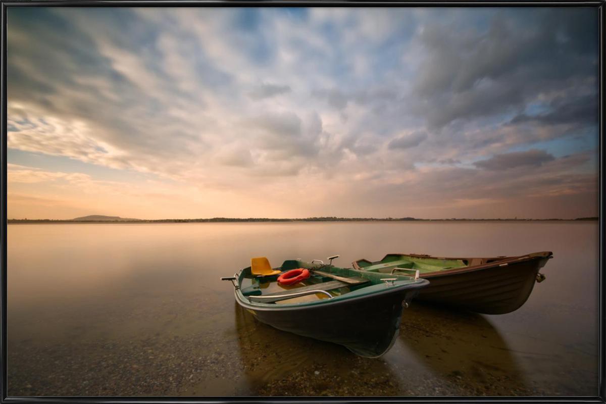 Boats - Piotr Krol (Bax) -Bild mit Kunststoffrahmen