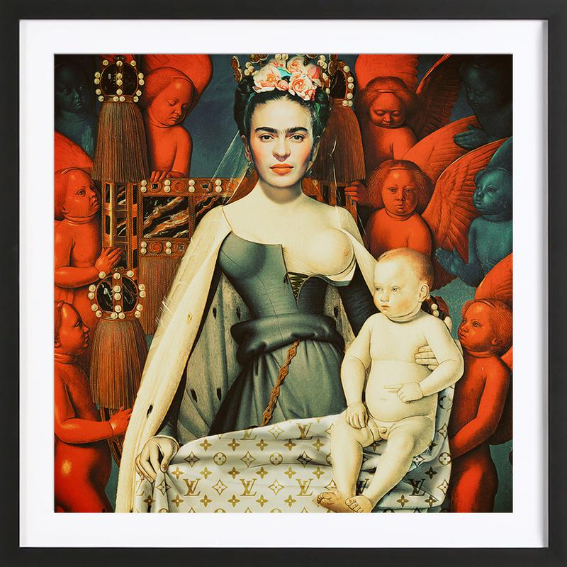 Pop Frida ingelijste print