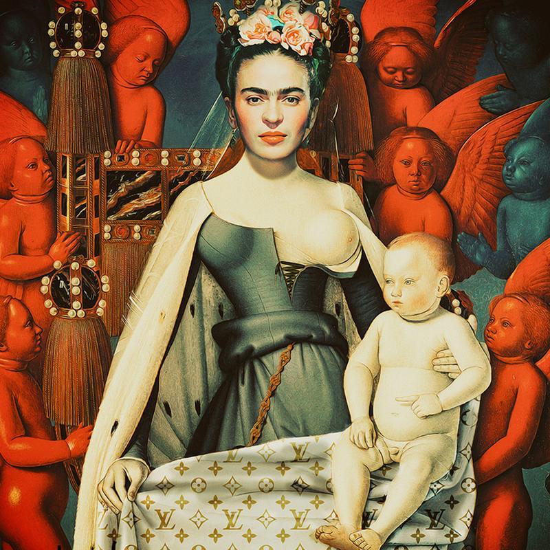 Pop Frida canvas doek