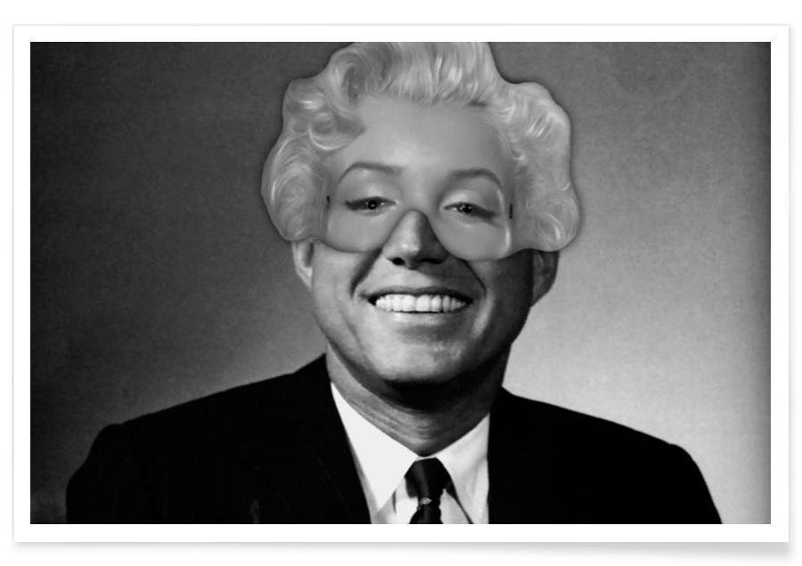 Schwarz & Weiß, Pop Art, Marilyn Monroe, Mrs. President -Poster