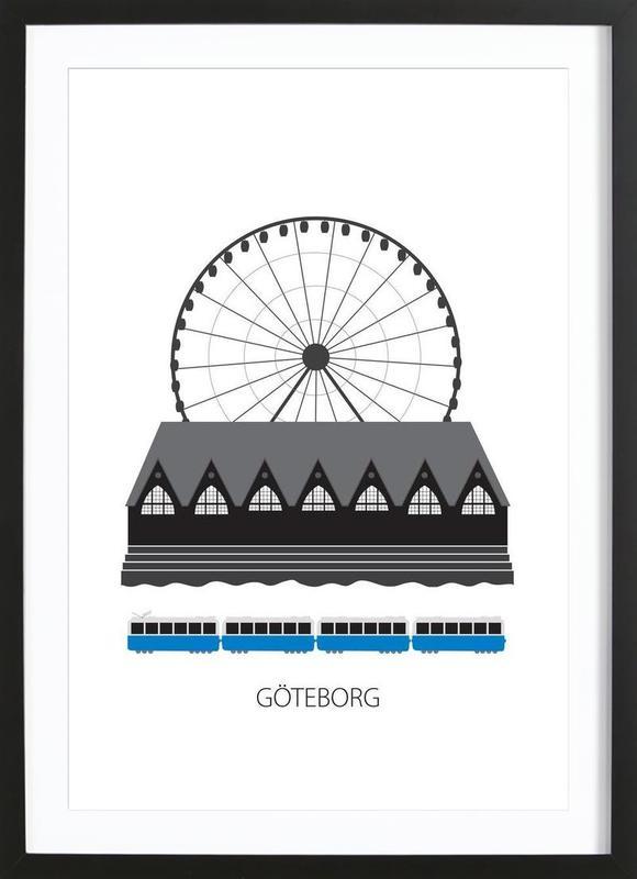Göteborg -Bild mit Holzrahmen