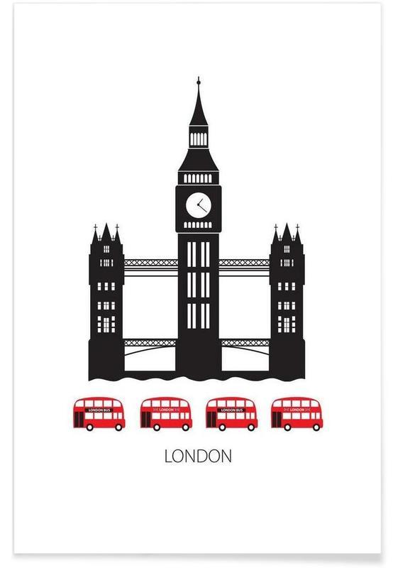 London Tower Bridge Minimalist Poster