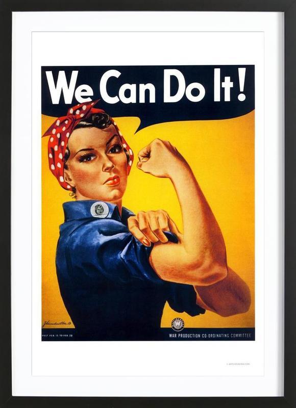 We Can Do It -Bild mit Holzrahmen