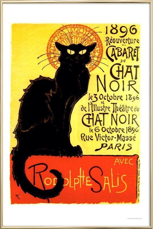 Chat Noir poster in aluminium lijst
