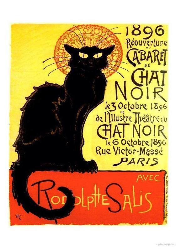 Chat Noir -Leinwandbild