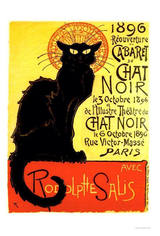 Chat Noir alu dibond