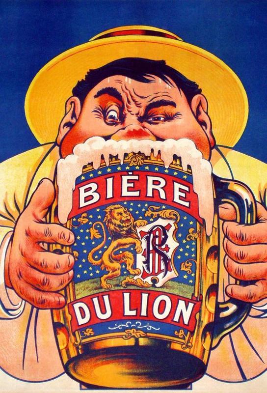 Biere Du Lion tableau en verre