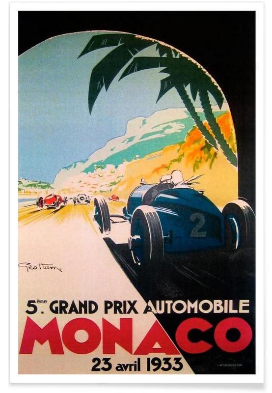 Grandprix Automobile Monaco 1933 -Poster