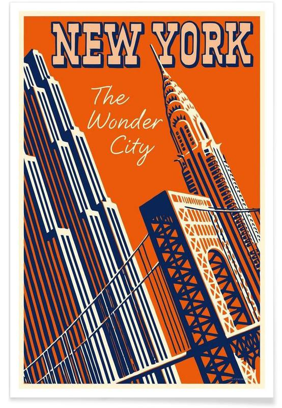 NY The Wonder City -Poster