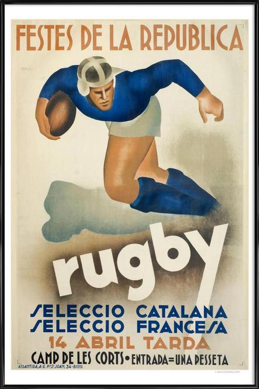 Rugby Framed Poster