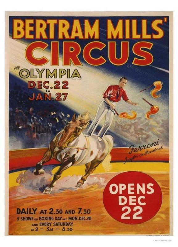 Bertram Mills Circus Canvas Print