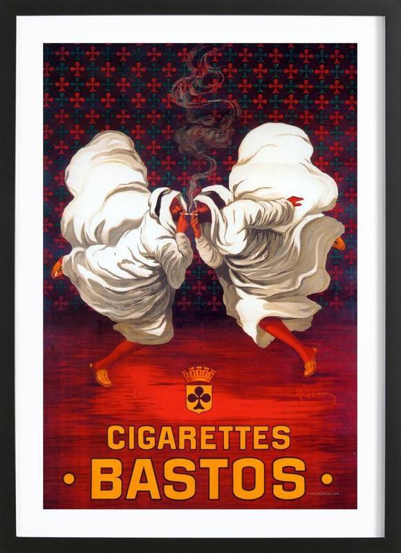 Cigarettes Bastos affiche sous cadre en bois