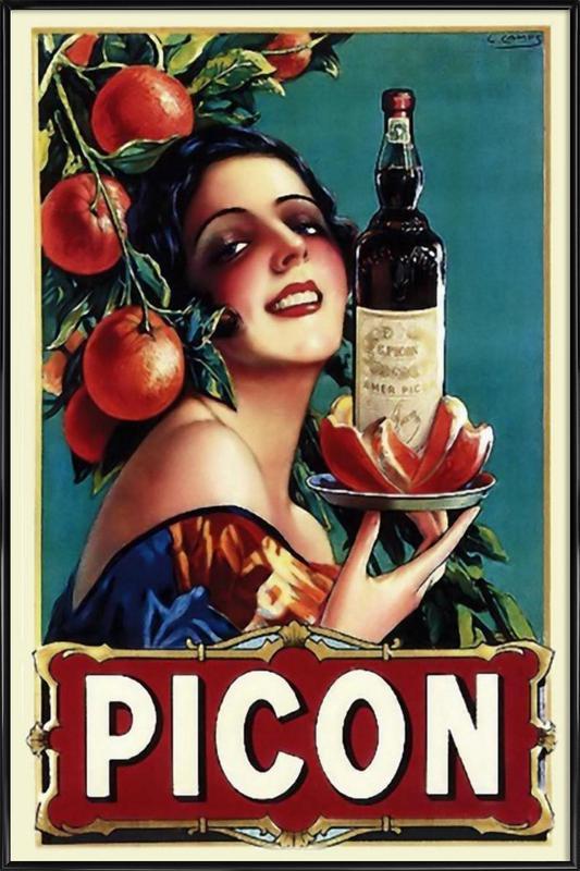Picon Liquor ingelijste poster