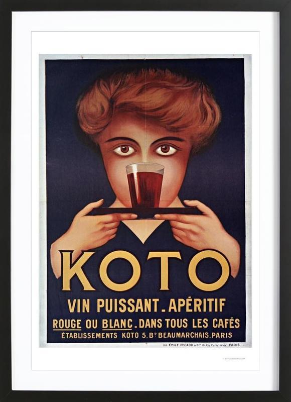 Koto -Bild mit Holzrahmen
