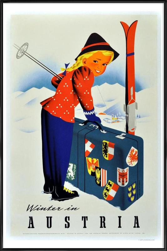 Winter In Austria ingelijste poster